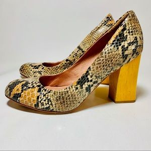 Snake Print High Heel Pumps by Corso Como Sz. 8M